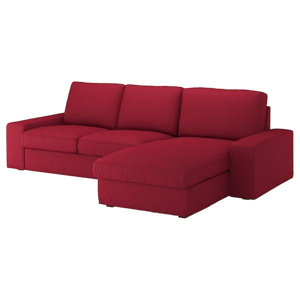 奇维 三人沙发 带贵妃椅/欧斯塔 红色 280 厘米 83 厘米 95 厘米 163 厘米 60 厘米 124 厘米 45 厘米