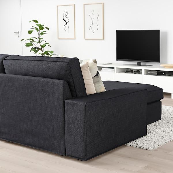 奇维 三人沙发 带贵妃椅/西拉利德 煤黑色 280 厘米 83 厘米 95 厘米 163 厘米 60 厘米 124 厘米 45 厘米