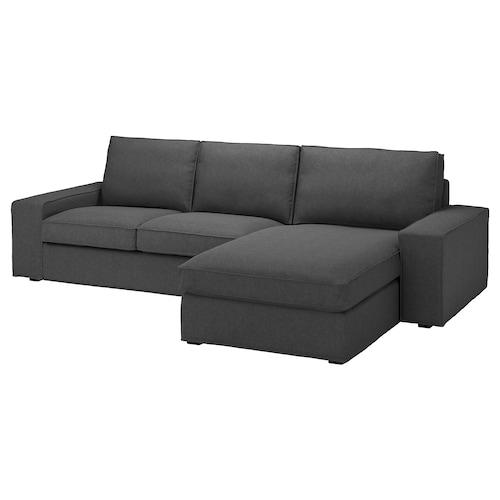 奇维 三人沙发 带贵妃椅/塔米拉 中灰色 280 厘米 83 厘米 95 厘米 163 厘米 60 厘米 124 厘米 45 厘米
