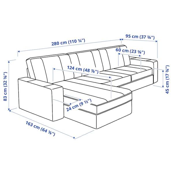 奇维 三人沙发 带贵妃椅/伊德库拉 深灰色 280 厘米 83 厘米 95 厘米 163 厘米 60 厘米 124 厘米 45 厘米