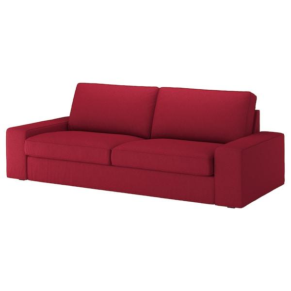 奇维 三人沙发套 欧斯塔 红色