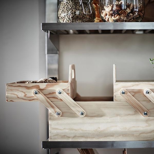 KLÄMMEMACKA 克莱玛卡 办公桌收纳件, 自然色 胶合板, 35x22 厘米