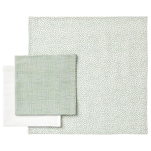 克伦米 小方巾 绿色/白色 30 厘米 30 厘米 3 件
