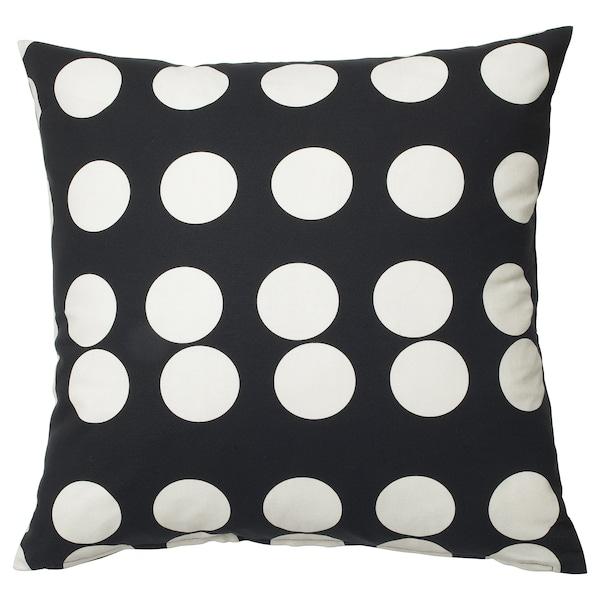 KLARASTINA 克拉斯缇 垫套, 黑色/白色, 50x50 厘米