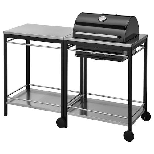 克拉森 碳烤炉和推车 不锈钢 144 厘米 57 厘米 109 厘米