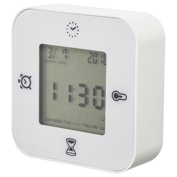库克斯 钟/温度计/闹铃/计时器 白色 7 厘米 3 厘米 7 厘米