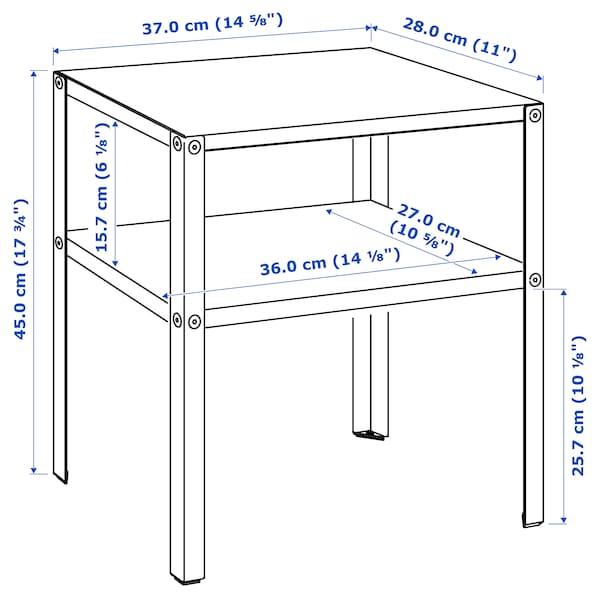 科纳列维克 床边桌 黑色 37 厘米 28 厘米 45 厘米