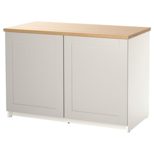 诺克胡 底柜和柜门 灰色 122 厘米 120 厘米 61 厘米 85 厘米