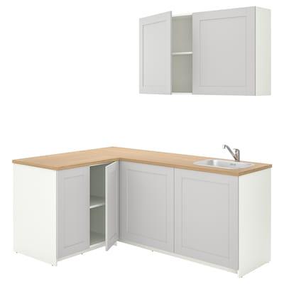 KNOXHULT 诺克胡 厨房, 灰色, 182x143x220 厘米