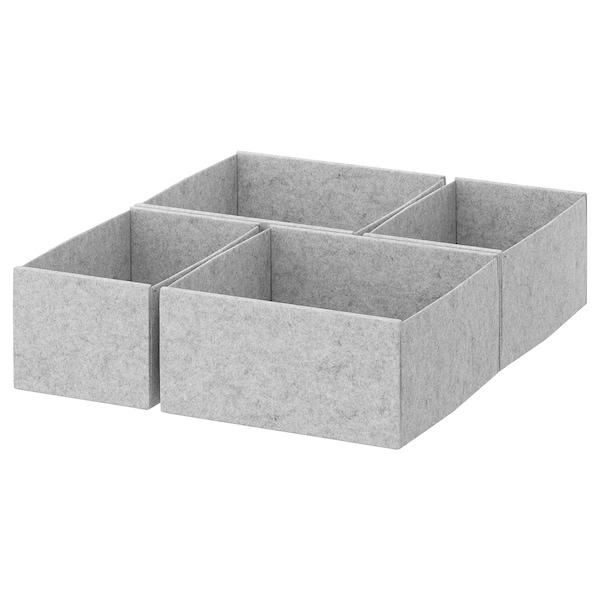 KOMPLEMENT 康普蒙 储物盒,4件套, 淡灰色, 50x58 厘米
