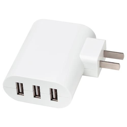 科普拉 3接口USB充电器 白色 7 厘米 3 厘米