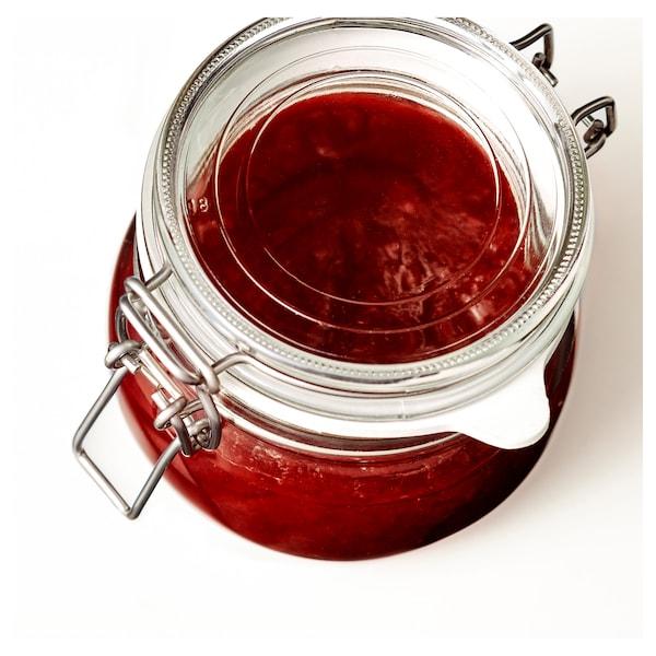 KORKEN 考肯 附盖罐, 透明玻璃, 0.5 公升