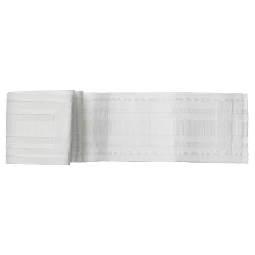 克隆尼 打褶带 白色 310 厘米 8.5 厘米