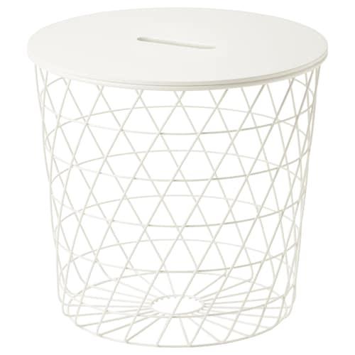 魁思伯 储物桌, 白色, 44 厘米
