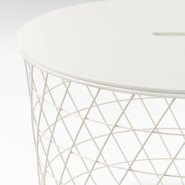魁思伯 储物桌, 白色, 61 厘米