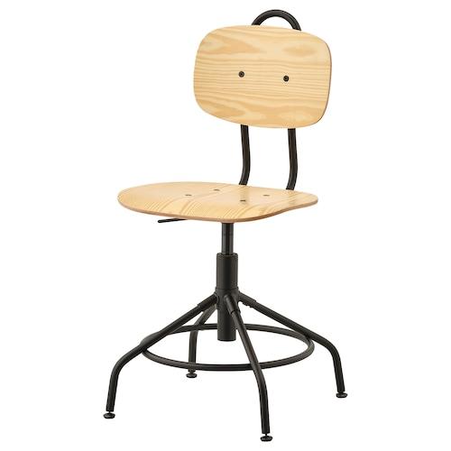 乐维 转椅 松木/黑色 110 公斤 58 厘米 58 厘米 94 厘米 42 厘米 39 厘米 44 厘米 55 厘米
