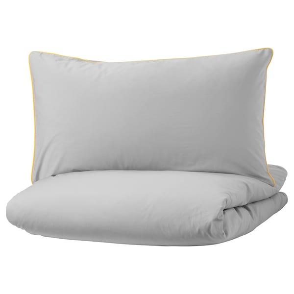 昆布鲁玛 被套和枕套 灰色/黄色 200 Inch² 1 件 200 厘米 150 厘米 50 厘米 80 厘米