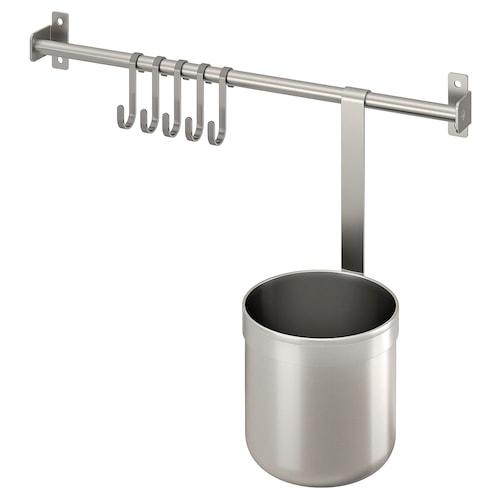 IKEA 康福斯 5钩挂杆/1容器