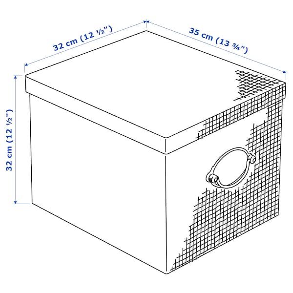 卡恩维克 附盖储物盒 米黄色 35 厘米 32 厘米 32 厘米