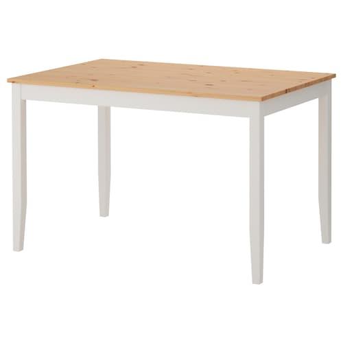 拉罕姆 桌子, 浅仿古色/白色漆, 118x74 厘米