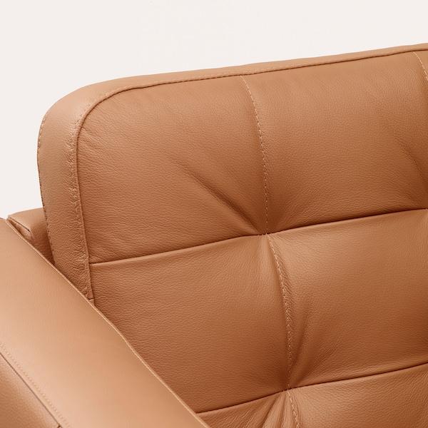 兰德克纳 三人沙发, 带贵妃椅/哥兰/邦斯塔 金棕/金属