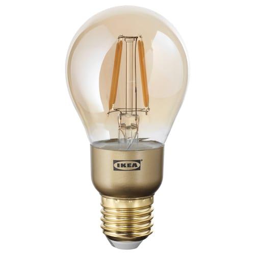 兰诺 LED灯泡 E27 400流明, 可调光的/球形 褐色透明玻璃, 60 毫米