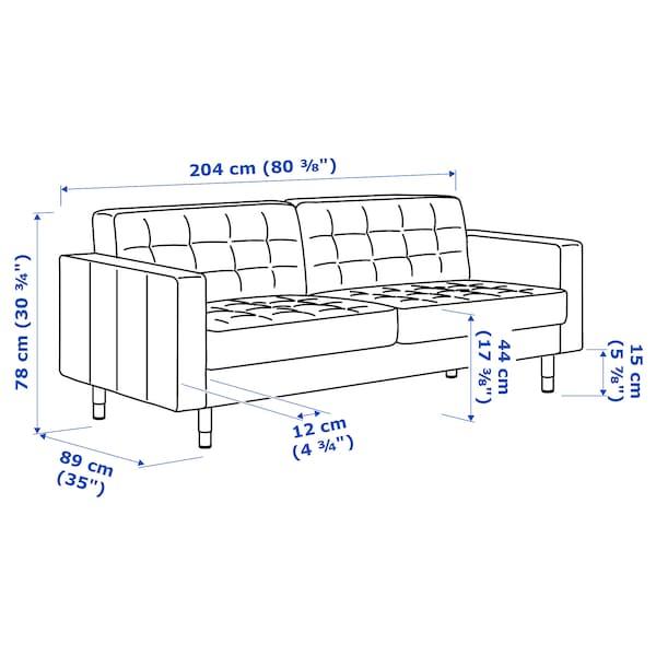 兰德克纳 三人沙发 哥兰/邦斯塔 金棕/金属 204 厘米 89 厘米 78 厘米 5 厘米 64 厘米 180 厘米 61 厘米 44 厘米 4 件