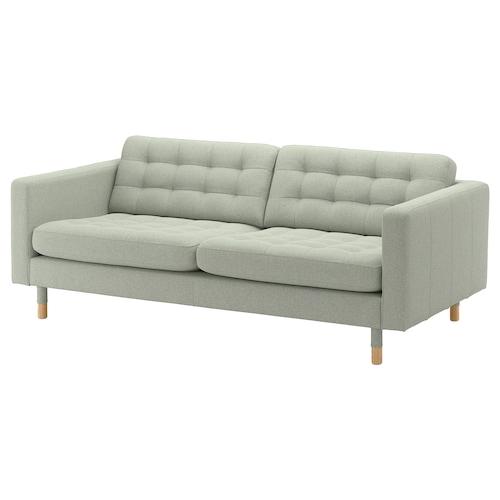 兰德克纳 三人沙发 刚纳瑞德 浅绿/木头 204 厘米 89 厘米 78 厘米 64 厘米 180 厘米 61 厘米 44 厘米