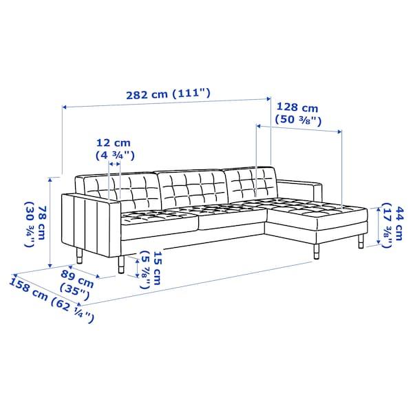 兰德克纳 四人沙发 带贵妃椅/刚纳瑞德 浅绿/木头 158 厘米 282 厘米 89 厘米 78 厘米 64 厘米 180 厘米 56 厘米 44 厘米
