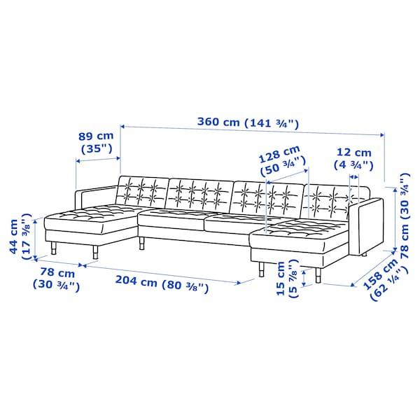 兰德克纳 五人沙发 带贵妃椅/哥兰/邦斯塔 深米色/木质 360 厘米 78 厘米 89 厘米 158 厘米 64 厘米 61 厘米 128 厘米 44 厘米