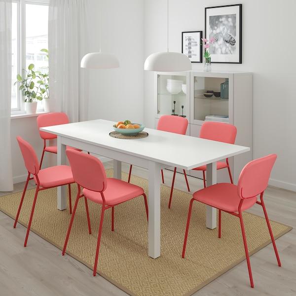 兰恩贝里 伸缩型餐桌 白色 130 厘米 190 厘米 80 厘米 75 厘米 40 公斤