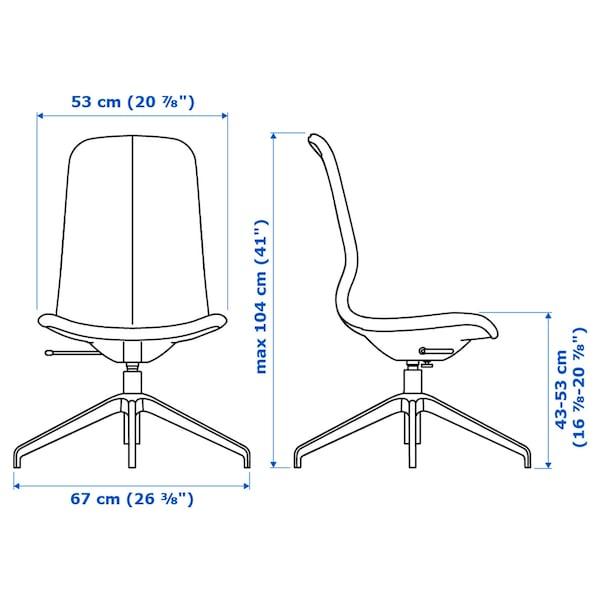 隆菲尔 会议椅 刚纳瑞德 深灰色/白色 110 公斤 67 厘米 67 厘米 104 厘米 53 厘米 41 厘米 43 厘米 53 厘米