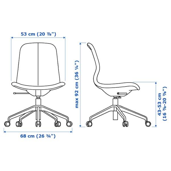 隆菲尔 办公椅 刚纳瑞德 浅褐粉/白色 110 公斤 68 厘米 68 厘米 92 厘米 53 厘米 41 厘米 43 厘米 53 厘米