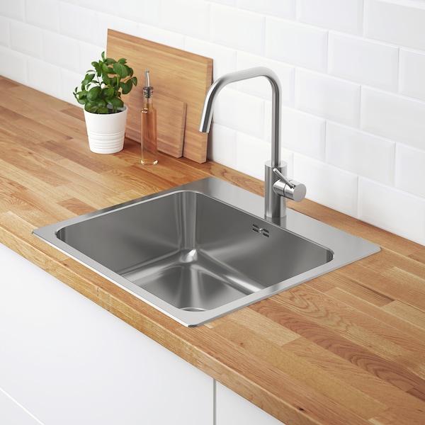 兰加顿 嵌入式水槽,带1个槽 不锈钢 18 厘米 50 厘米 40 厘米 51 厘米 54 厘米 52.5 厘米 56 厘米 52.5 厘米 28.0 公升