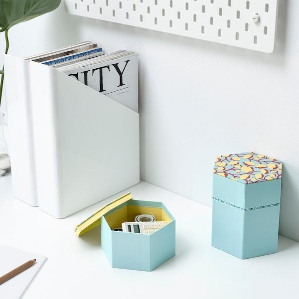 兰克莫伊 装饰盒,3件套 浅蓝色/图案 3 件
