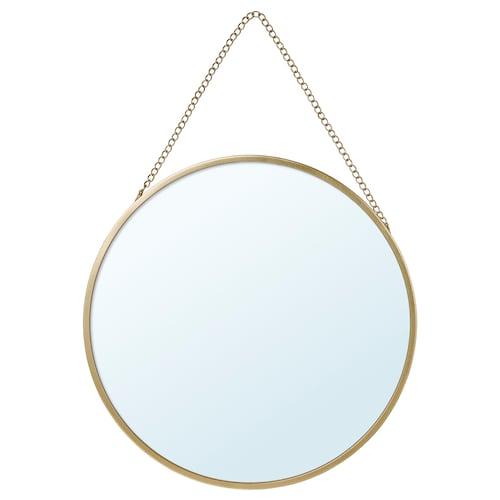 拉斯比恩 镜子 金黄色 25 厘米