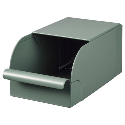 雷萨 盒子, 灰绿色/金属, 9x17x7.5 厘米