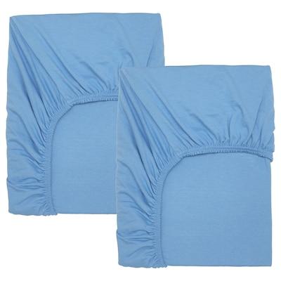 LEN 莱恩 婴儿床床笠, 浅蓝色, 60x120 厘米