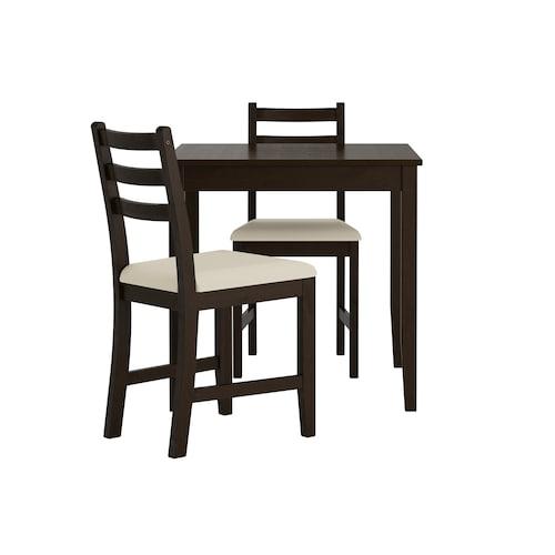 拉罕姆 一桌二椅 黑褐色/维塔丽 米黄色 74 厘米 74 厘米 73 厘米