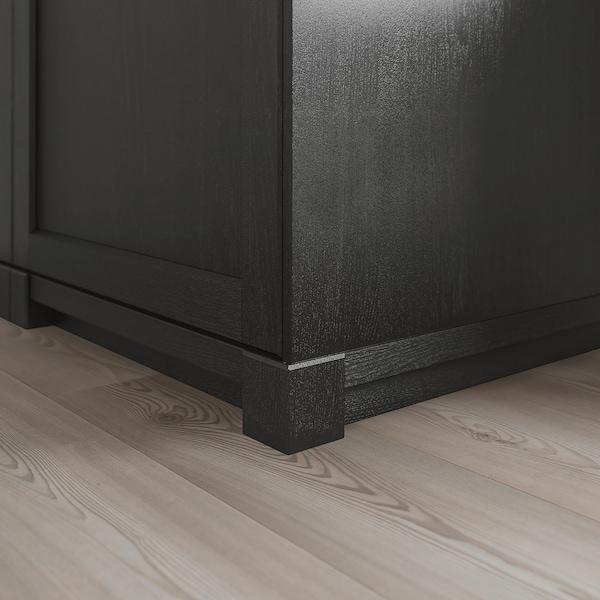 雷尔休坦 装饰踢脚板用转角支腿 黑漆 7.0 厘米 7.0 厘米 7.7 厘米 2 件