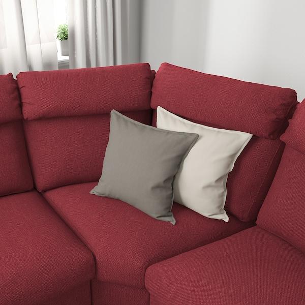 利胡特 4人转角沙发, 雷德 红褐色