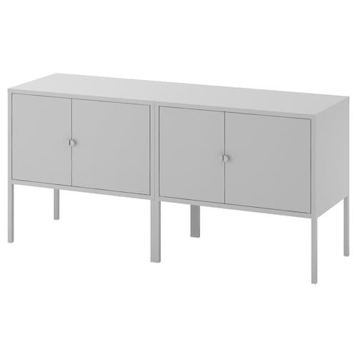 利克胡 橱柜组合, 灰色, 120x35x57 厘米
