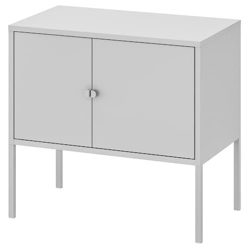 利克胡 柜子, 金属/灰色, 60x35 厘米