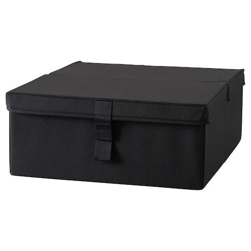 利克赛 单人沙发床储物盒, 黑色