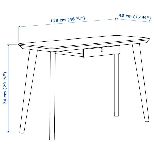 利萨伯 书桌, 白蜡木贴面, 118x45 厘米