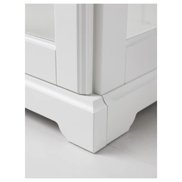 赖尔多 玻璃门柜 白色 96 厘米 42 厘米 214 厘米 48 公斤 16 公斤