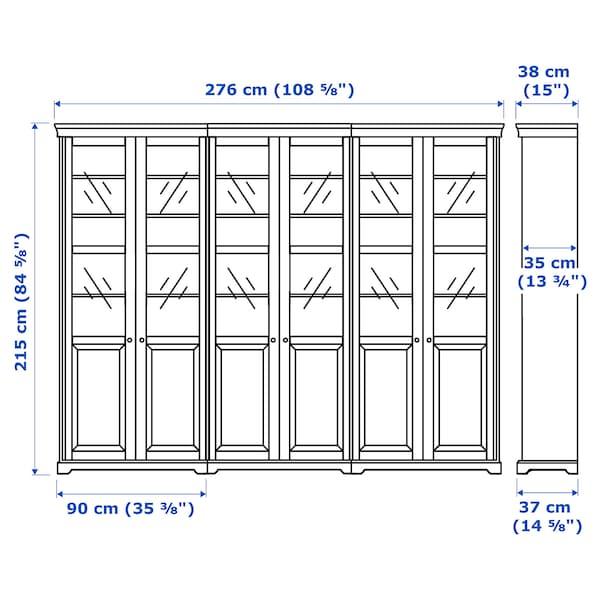 赖尔多 储物组合带门 白色 276 厘米 38 厘米 215 厘米