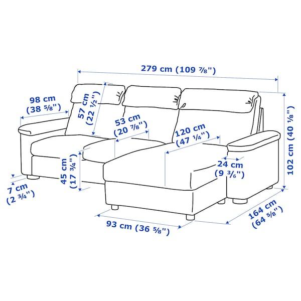 利胡特 三人沙发 带贵妃椅/哥兰/邦斯塔 黑色 102 厘米 76 厘米 164 厘米 279 厘米 120 厘米 7 厘米 231 厘米 53 厘米 45 厘米