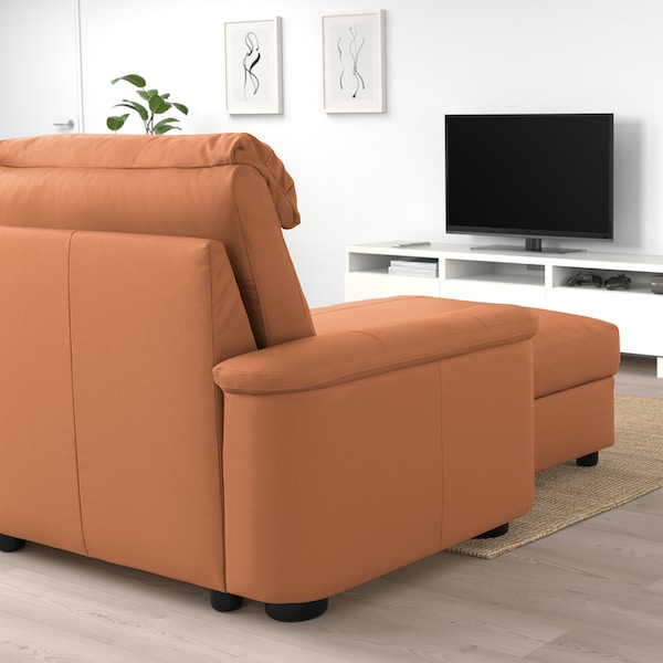 LIDHULT 利胡特 三人沙发, 带贵妃椅/哥兰/邦斯塔 金棕色