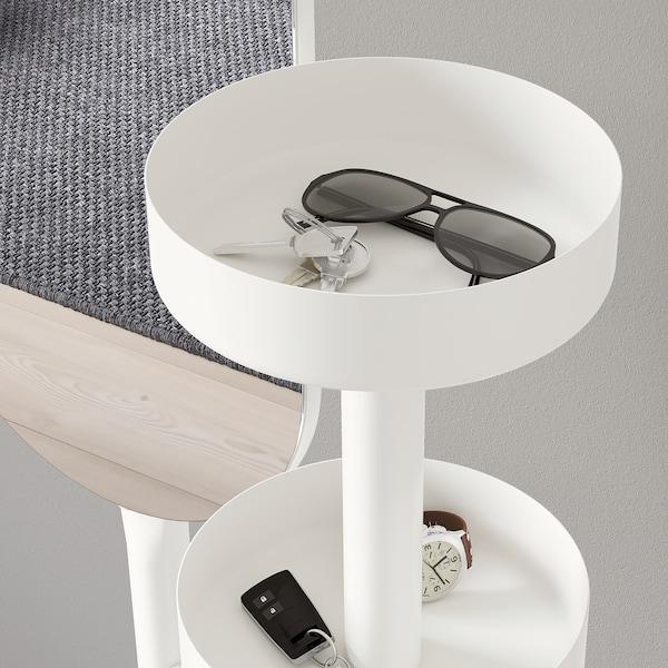利尔科金 带镜衣物架 白色 50 厘米 50 厘米 185 厘米 26 厘米